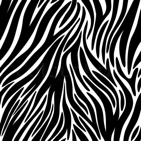 zebra pattern texture vector illustration of seamless zebra pattern stock