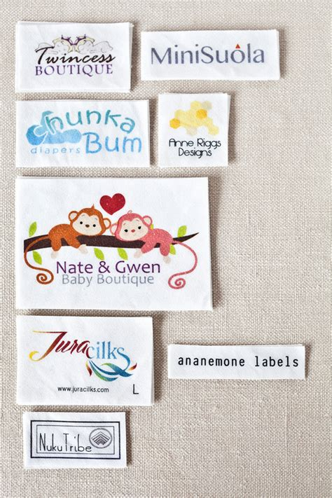 Labels For Handmade Clothing - custom clothing labels personalized sewing labels by ananemone