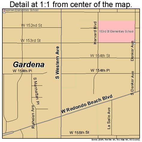 Gardena Ca On A Map Gardena California Map 0628168