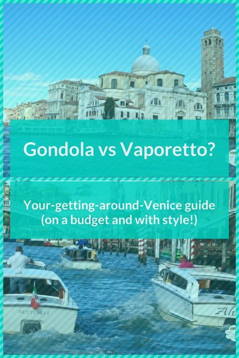 what s the best way to get around venice on a budget and