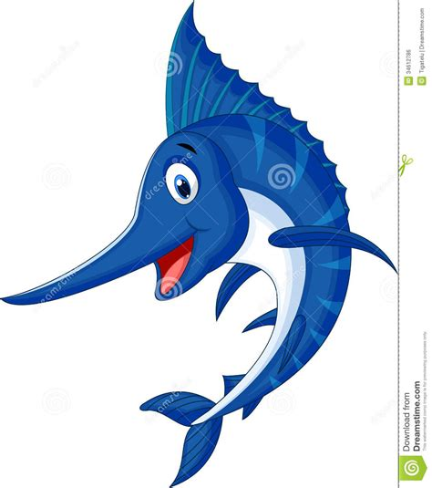 marlin fish cartoon stock vector image of cheerful