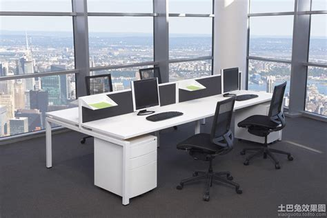 multiple workstation office cubicle ideas google search 办公室办公桌图片 土巴兔装修效果图