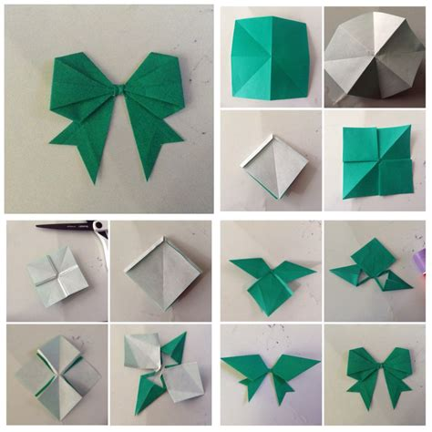 How To Make A Bow With Paper Ribbon - diy origami bow diy