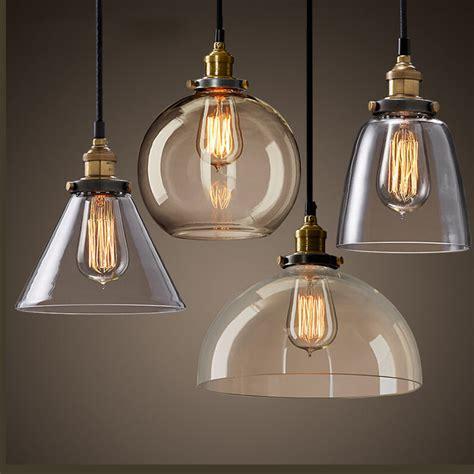 Clear Glass Pendant Light Fixtures Aliexpress Buy Modern Clear Glass Pendant Light E27 110 220v Edison Bulbs Hanging Ls