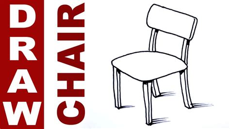 how to draw a armchair how to draw a chair youtube