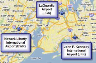 New York Airports Map by Nyc Airports Map Millstonehills
