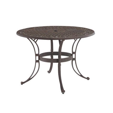 Patio Dining Tables Only Home Styles Biscayne 42 In Bronze Patio Dining