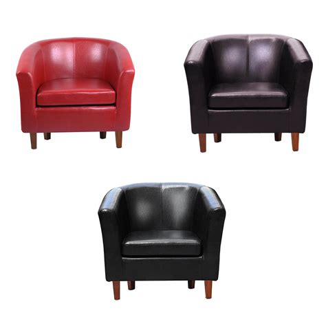 Leather Tub Dining Chairs Leather Tub Chair Armchair For Dining Living Room Office Reception P1l9 C5d1 Ebay