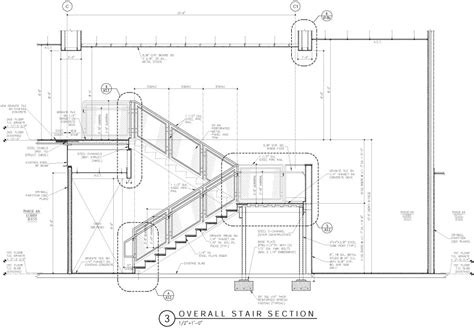 stair section detail production services wjg architects llc