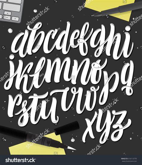 Handmade Letters - vector bold typeface brush stock vector