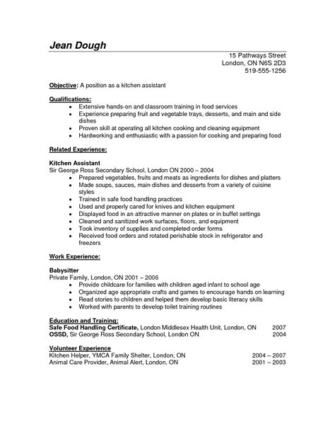 kitchen manager resume sle preschool resume sle page 1 28 images tennessee resume