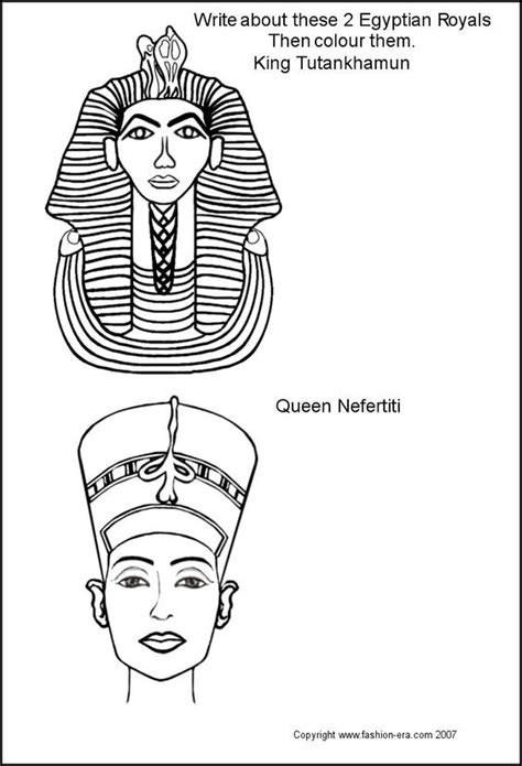 coloring pages king tut egypt stencils ancient costume fashion egyptian king