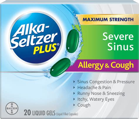 allergies coughing what are the symptoms of sinus allergy alka seltzer plus