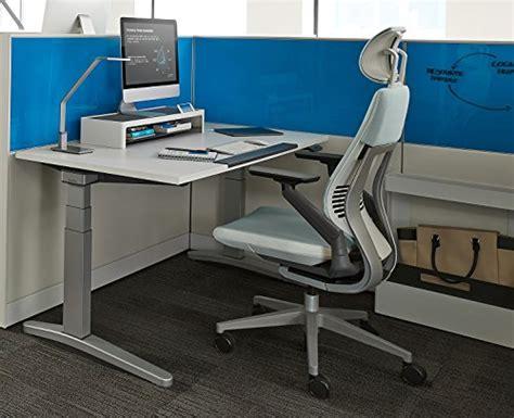 steelcase gesture office desk chair  headrest cogent connect basil fabric standard black
