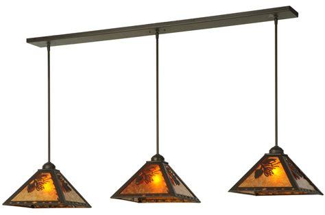 lone light fixtures meyda 141881 lone pine linear 3 light multi pendant fixture