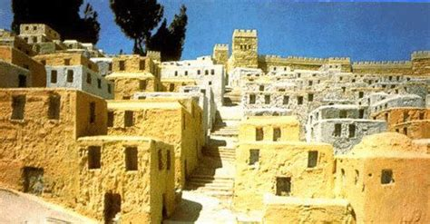 ancient middle eastern homes with flat roofs jerusalem market place the houses of the lower city
