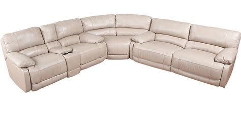 rooms to go sectional sofa home auburn taupe leather 3 pc reclining sectional leather sectionals beige