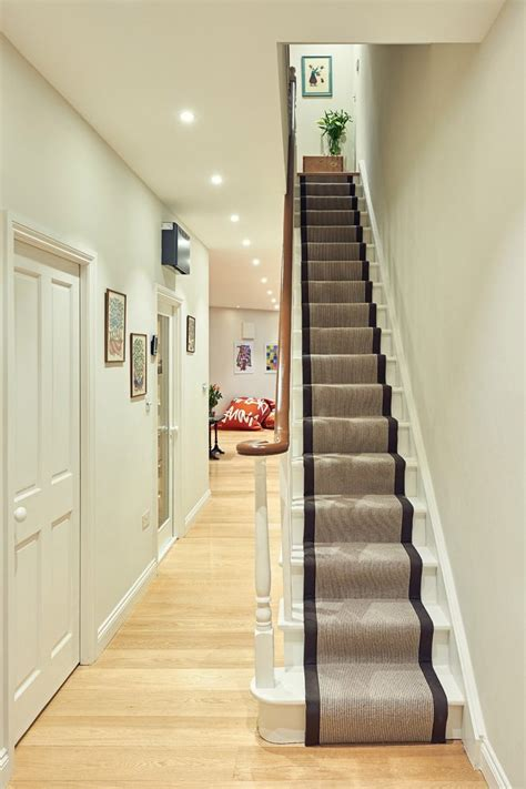 Narrow Staircase Design Hallway Carpet Staircase With Vintage Furniture Terraced House Vintage Furniture