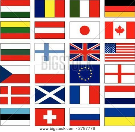 flags of the world most popular colour picture or photo of vector flags world most popular flags