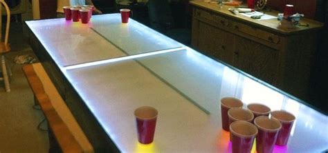 diy led light table light up your with this diy led pong table