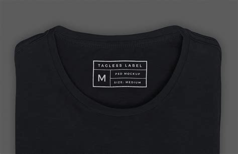 Apparel Tag Inside Label Mockup Medialoot Inside Shirt Tag Template