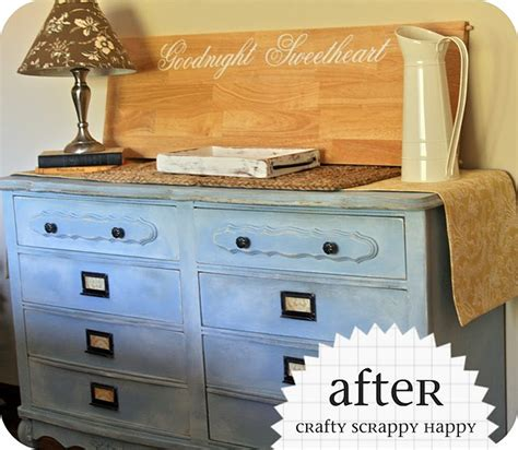 Dresser Covers upcycled blue dresser crafty scrappy happy