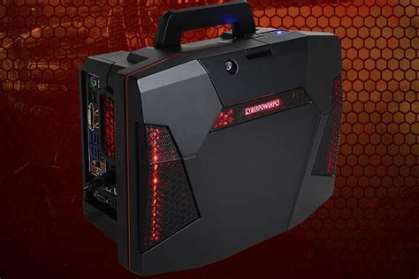 portable gaming desk cyberpower releases fang battlebox portable gaming pc