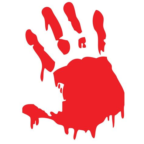 Zombie Fensteraufkleber by Bloody Hand Print Sticker Vinyl Decal Choose A Color