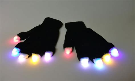 led light up gloves glow gloves led light up gloves groupon goods