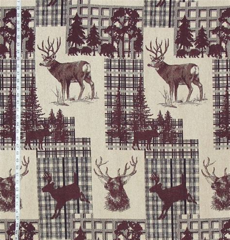 Deer Upholstery Fabric by Deer Fabric For Cabin Decorating 02 June 2015