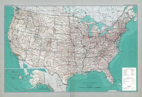 a big map of the united states the national atlas of the united states of america perry