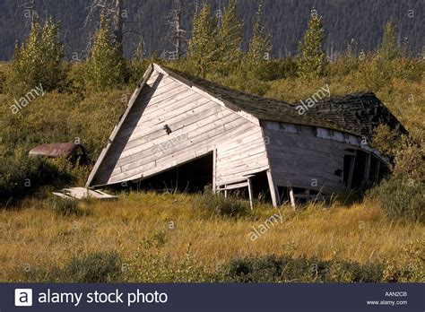 houses in alaska to buy house collapsed in alaska due to melting permafrost caused by stock photo royalty