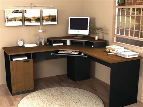 corner computer desks for home office bestar hton corner computer desk