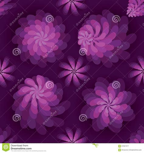 rotate pattern sketch flower rotate windmill purple mist seamless pattern stock