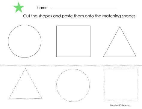 printable shapes to cut cut and paste shapes developing smarts pinterest