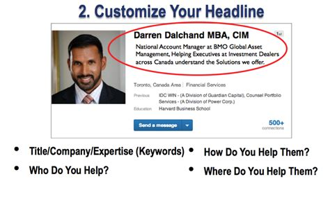 Profile Headline Exles In Linkedin How To Show Your Mba by 2 Simple Ways Financial Advisors Can Optimize Their