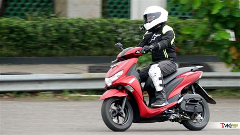 vlog ulasan test ride yamaha freego   ergonomi