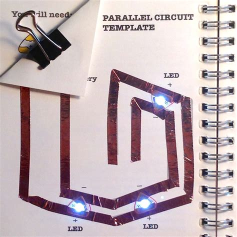 paper circuit card template learn chibitronics