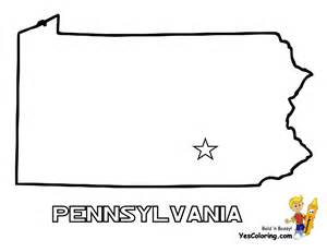 map of pennsylvania colouring pages