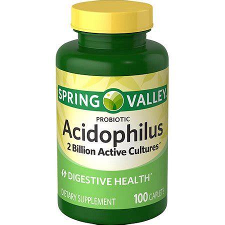 spring valley probiotic acidophilus dietary supplement