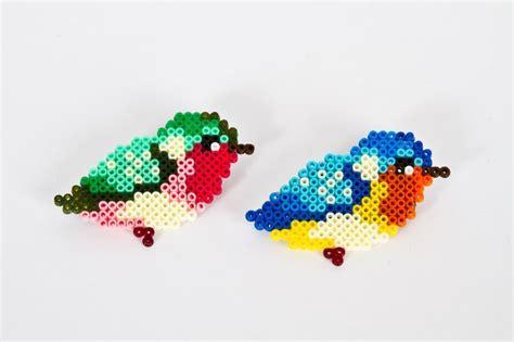 hama birds hama bead broche from denicheuse beading