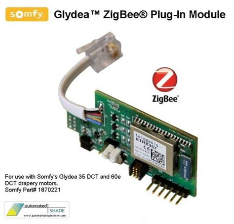 automated shade store somfy glydea zigbee in
