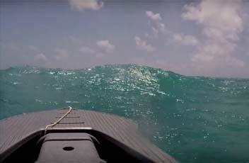 driving boat in waves motorized kayaks wavewalk 174 stable fishing kayaks boats