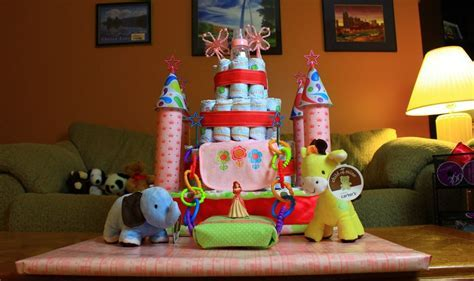 Princess Castle Diaper Cake (How To Make)   YouTube