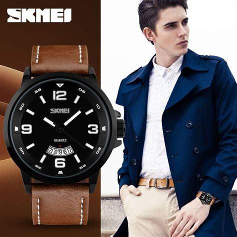Skmei 9156 Jam Tangan Pria Analog Casual Fashion Waterproof 30m Hitam skmei jam tangan analog pria 9115cl black brown jakartanotebook