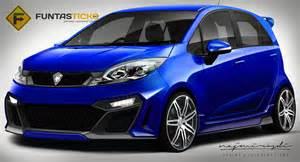 Proton Sport Proton Iriz Sedan Could Be The Saga 3 Rendering