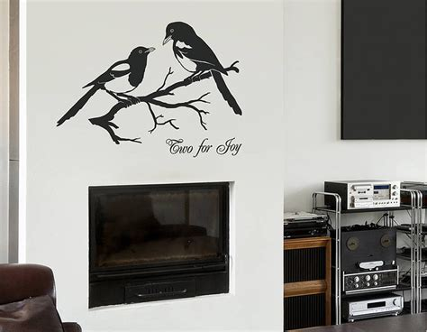 wall sticker vinyl magpies two for joy vinyl wall sticker contemporary