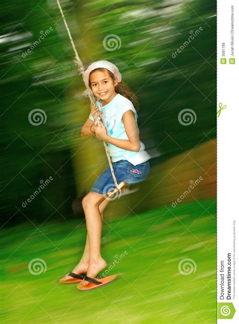 swing fast young girl swinging fast royalty free stock images image