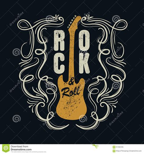 design t shirt rock vector vintage rock and roll typograpic for t shirt tee designe