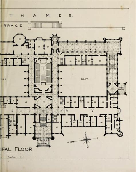 Houses Of Parliament Floor Plan by Designs For The Proposed New Houses Of Parliament 1836